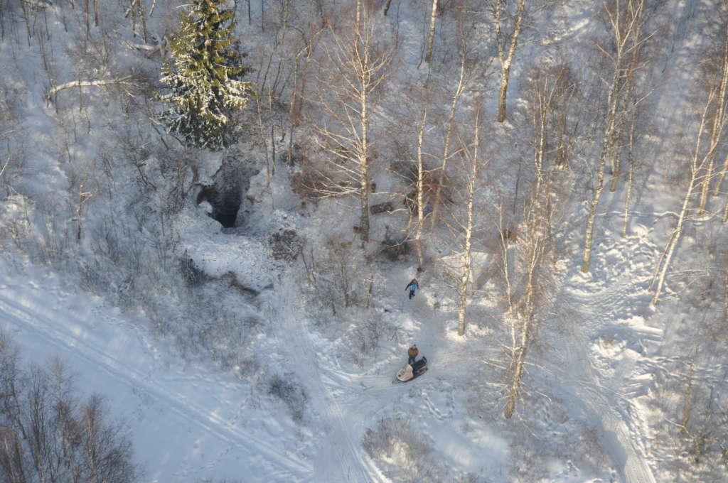 Вид нашего раскопа с высоты птичьего полета