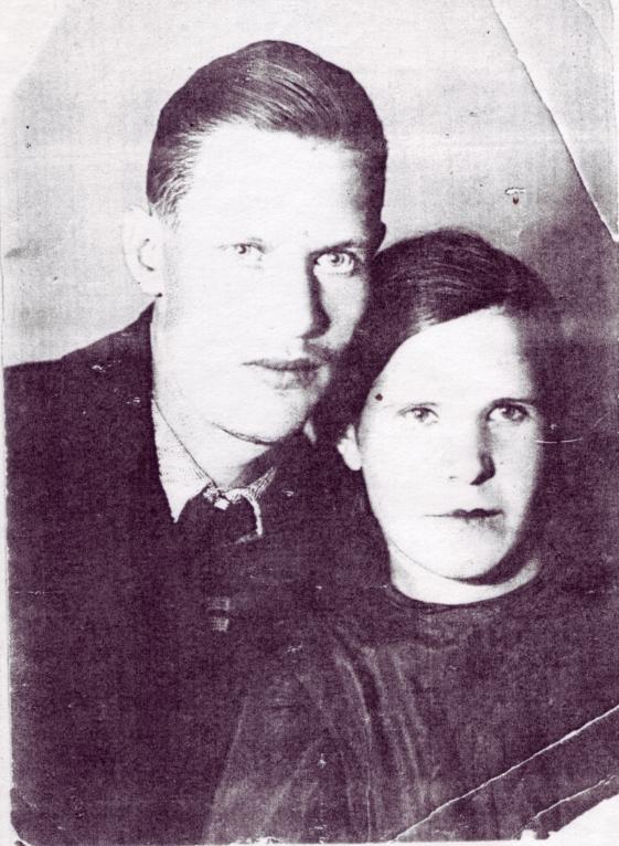 М.В. Феоктистов с женой. Москва 1939 год.