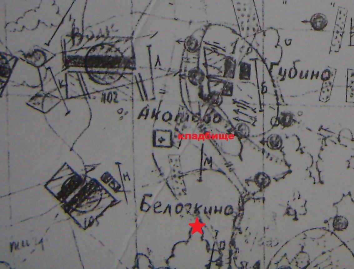 Схема оборонительной полосы 108-й сд на июнь 1942 года